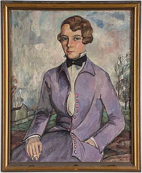 AGDA HOLST, olja på duk, signerad och daterad Paris 1927.