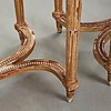 A pair of gustavian late 18th century console tables.