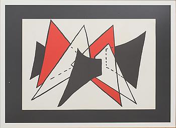 ALEXANDER CALDER, färglitografi, ur Derrière le Miroir 1963.