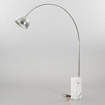 """ACHILLE CASTIGLIONI, ACHILLE & PIER CASTIGLIONE floor lamp """"Arco"""" for Flos later part of the 20th century."""