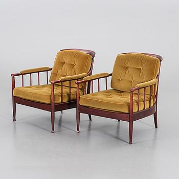 KERSTIN HÖRLIN-HOLMQUIST, KERSTIN HÖRLIN-HOLMQUIST, a pair of Skrindan armchairs, later part of the 20th century.