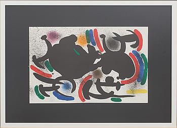 JOAN MIRÓ, färglitografi, ur Miró Lithographe I.