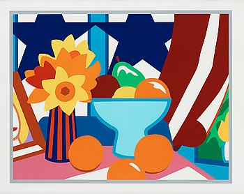 """180. Tom Wesselmann, """"Still Life with Blowing Curtain (Red)""""."""