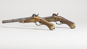 SLAGLÅSPISTOLER, ett par, Carl Gustafs gevärsfaktori, m/1850.