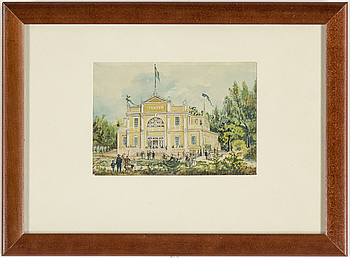 "OLOF MARTIN ""MARTINE"" ANDERSSON, akvareller, stockholmsbilder, 4 st, signerade."