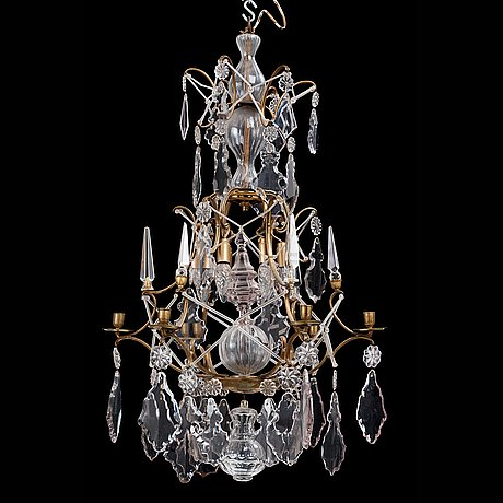 A swedish rococo 18th century six light chandelier
