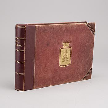 SKÅNSKA HERRGÅRDAR, av Gustaf Ljunggren. Tecknade af Ferdinand Richardt. Lund, C.W.K. Gleerups förlag 1863.