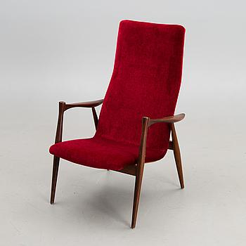 """ILMARI LAPPALAINEN, fåtölj, """"Emilia 2470"""", Asko, 1960-tal."""