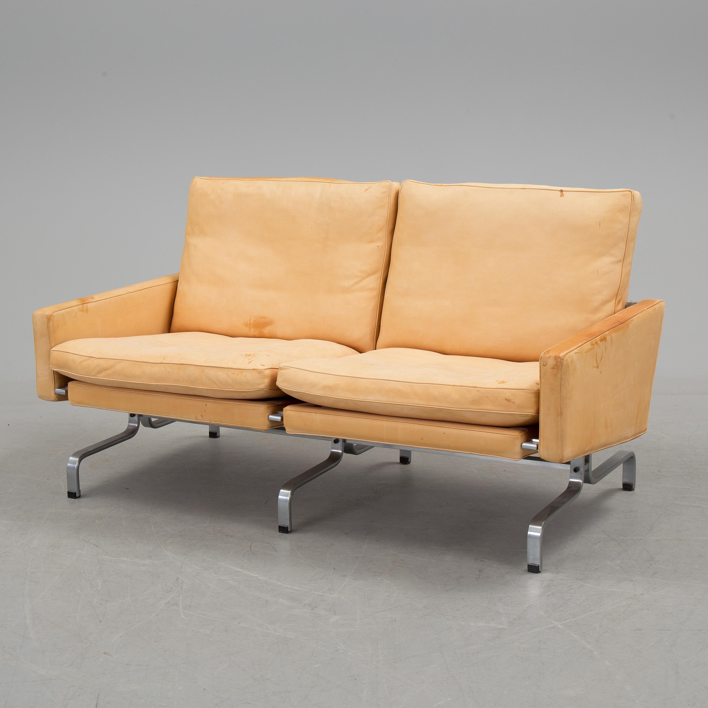 "POUL KJAERHOLM, soffa""PK 31 2"", Fritz Hansen, Danmark 1988 Bukowskis"