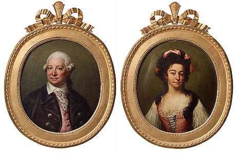 Jonas forsslund replica, johan alströmer (1742-1786) & his wife hedvig chatarina danckwart-lillieström (1762-1837).