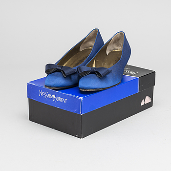 "YVES SAINT LAURENT, YVES SAINT LAURENT, ""Ottoman Blue"", shoes, size 39."