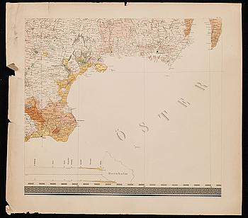 """GEOLOGISK KARTA ÖFVER SVERIGE.""17 st 1838-1855."