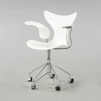"A ""Måsen"" office chair, designed by Arne Jacobsen for Fritz Hansen, made 2008."