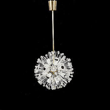 """EMIL STEJNAR taklampa """"Snowball / Sputnik Pusteblume"""", för Rupert Nikoll Wien 1960/70 -tal."""