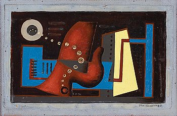 ERIK OLSON, ERIK OLSON, canvas laid on panel, signed EO and dated -30 and signed Erik Olson and dated 1930.