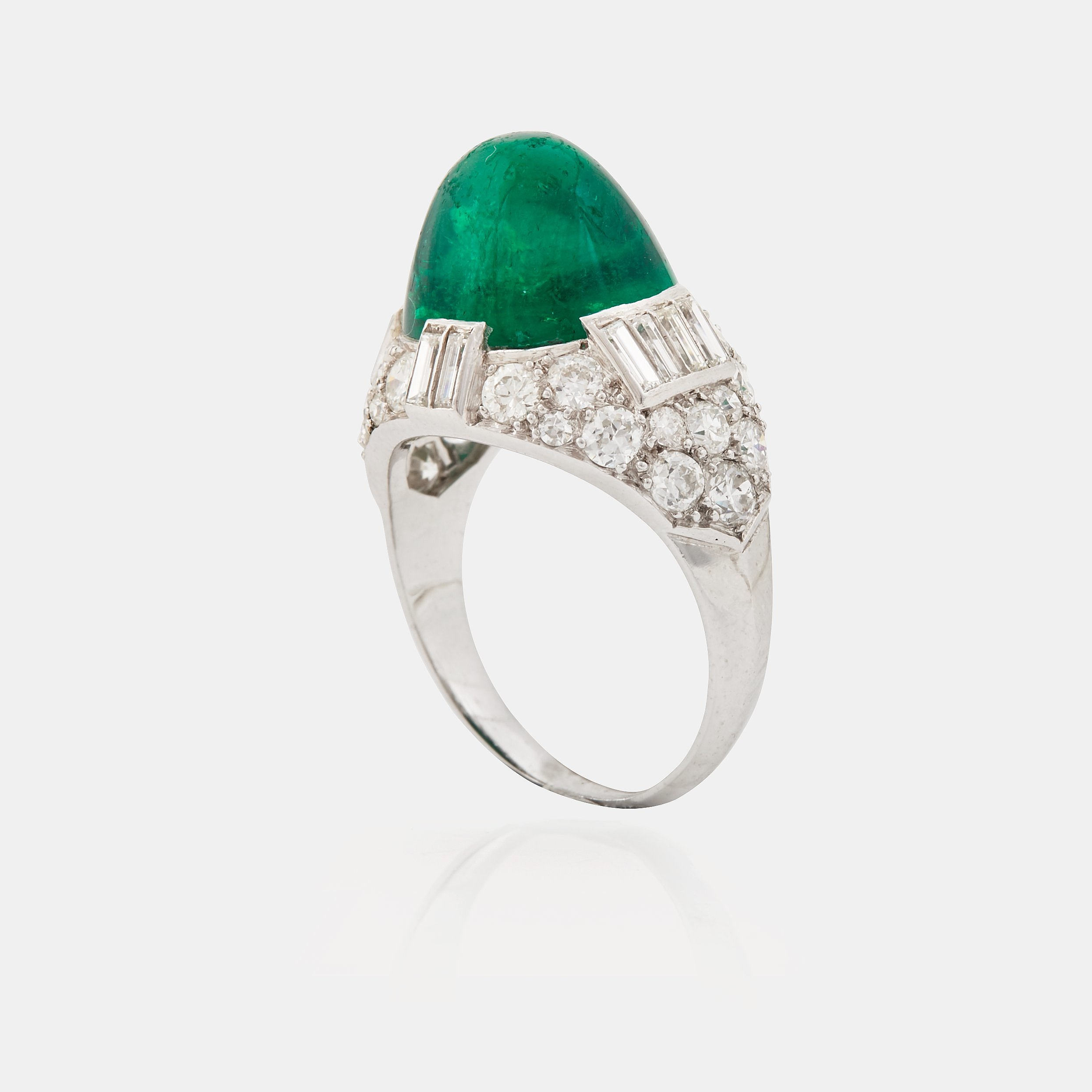 step diamond and of frame pin set size diamonds ring emerald within cut a the brilliant