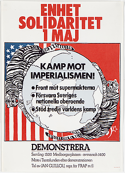 """Enhet Solidaritet -76"", offset print, 1976."