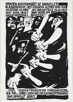 HÅKAN NYBERG, screenprint, political poster, 1968.