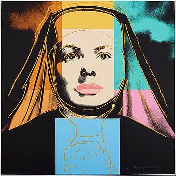 "178. Andy Warhol, ""Three portraits of Ingrid Bergman by Andy Warhol""."