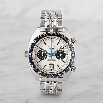 "9. HEUER, Autavia, ""Jo Siffert"", Mark 6, kronograf, armbandsur, 42 mm,"