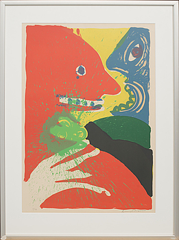 BENGT LINDSTRÖM, colour lithographe, signed and numbered 55/99.