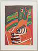 .bengt lindström, colour lithographe, signed and numbered 29/90.