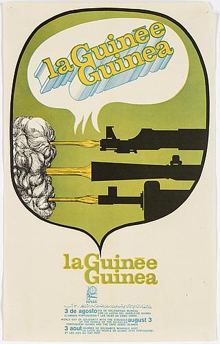 """Olivio martinez, """"la guinee guinea"""", offsetprint, 1969, ospaaal-poster nr: af 045."""