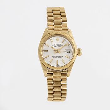 "ROLEX, Oyster Perpetual Datejust, ""bark finish"", wristwatch, 26 mm."