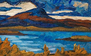 """301. Helmer Osslund, """"Marsfjällen"""", scene from the south of Lappland in the north of Sweden."""