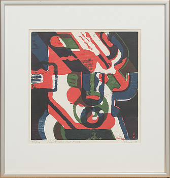 KNUT GRANE, litograph on colour, signed and numbered 70/100,