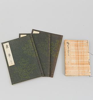 Three japanese books, 20th century.