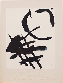 PIERRE TAL-COAT, litografi, signerad i trycket, ur Derrière le Miroir nr 144-146 1964.