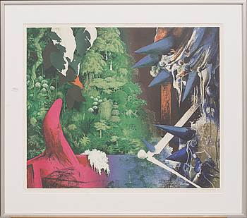 CARL OTTO HULTÉN, litograph in colour, signed and numbered 283/300,