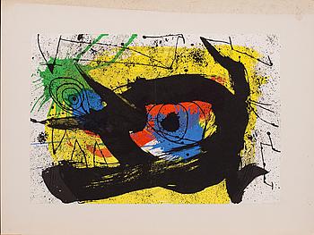 JOAN MIRÓ, färglitografi, ur  Derrière le Miroir nr 203, 1973.