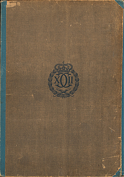 """""""KARL XII PÅ SLAGFÄLTET KAROLINSK SLAGLEDNING"""" portfolio. P.A Norstedt & Söner, Stockholm. 1918."""