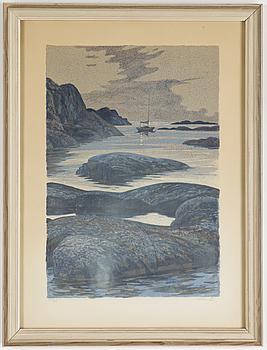 ROLAND SVENSSON, Färglitografi, signerad och numrerad 14/285.