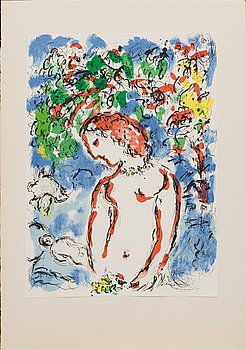 MARC CHAGALL, färglitografi, ur Derrière le Miroir nr 198, 1972.