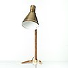 Paavo tynell, a model '9224' brass table lamp, taito oy, finland, mid 20th century.