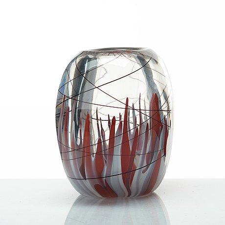 Vicke lindstrand, a vase, kosta, sweden 1950's.