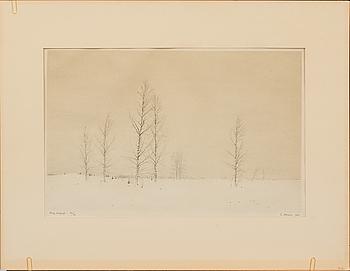 GUNNAR NORRMAN, litografi, signerad, daterad 1947 och numrerad 24/26.