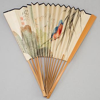 MÅLNING, av Chen Donghu, signerad och daterad 1942.