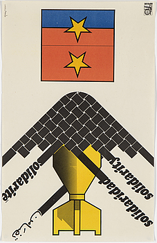 "OLIVIO MARTINEZ, ""Solidarity"", offsetprint, 1972. OSPAAAL-poster, nr: AS 073."