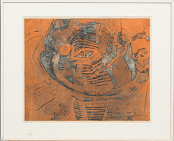 THORMOND LARSEN, litograph in colour, 2 pcs, signed and numbered,