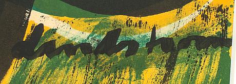 Bengt lindström, litograph in colour, signed and numbered 24/50.