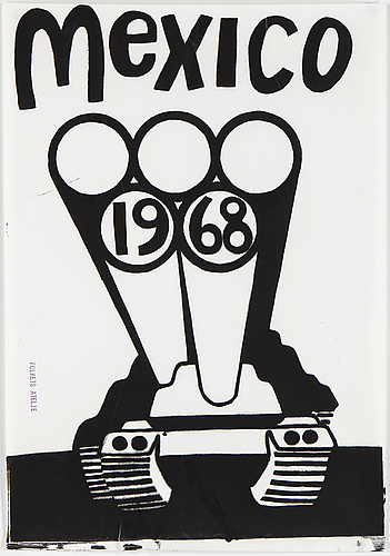 """Folkets ateljÈ, """"mexico 1968"""", screen print, signed with stamp"""