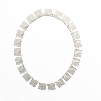 """BJÖRN WECKSTRÖM, A NECKLACE, """"Galactic heights"""", silver. Lapponia 1972."""