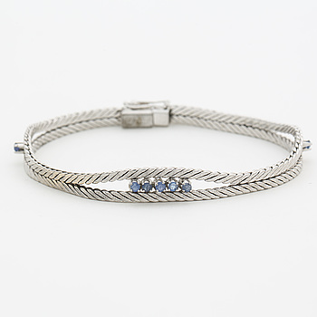 Bracelet with faceted sapphires.