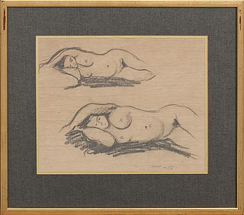 LENNART JIRLOW, teckning, sign och dat -56.