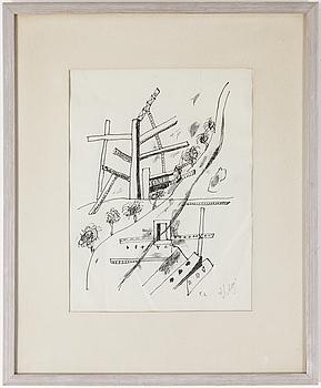 FERNAND LÉGER, EFTER, 1949, litografi på Chinepapper, signerad med tusch samt i plåten.