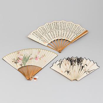 MÅLNINGAR, tre stycken. Kina, 1900-tal.